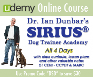 Dr. Ian Dunbar's SIRIUS Dog Trainer Academy on Udemy.com Save $30
