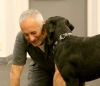 Roger Abrantes and Rottweiler.